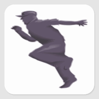 Shadow Runner Square Sticker