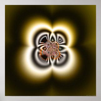 Shadow Texture 2 (Inca Motifs) Poster
