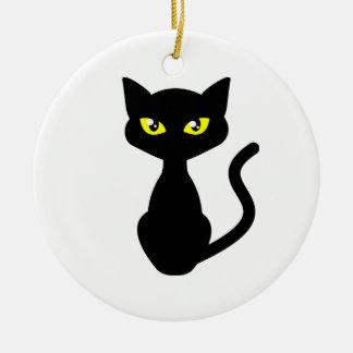 Shadow the Black Cat Christmas Ornament
