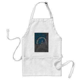Shadow Turkey Noir by the Moon Standard Apron