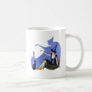 Shadow Witch and her Black Cat Basic White Mug