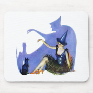 Shadow Witch and her Black Cat Mouse Pad