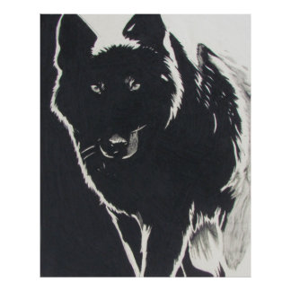 Shadow Wolf Poster