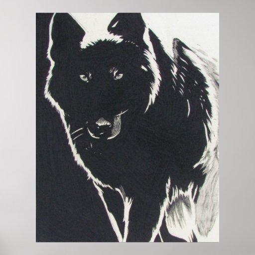 Shadow Wolf Print
