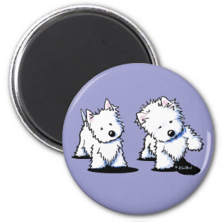 Shadowboxing Westies Magnet
