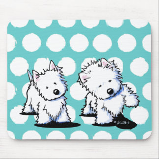 Shadowboxing Westies Mouse Mat