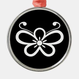 Shadowed butterfly-shaped plum blossom (Kocho) Christmas Ornament
