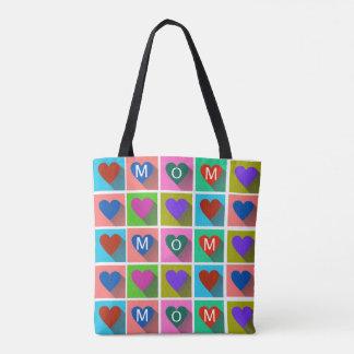 Shadowed Heart Squares - MOM Tote Bag