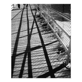 'Shadows and Fences'  Photographic Print