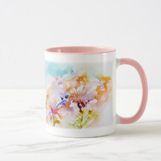 """Shadows in Pastels"" Hummingbird Print Mug"