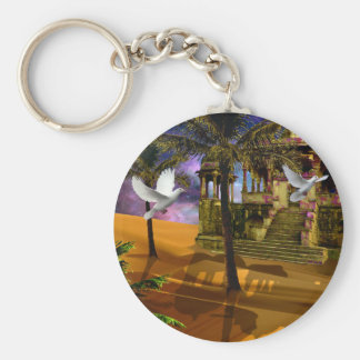 Shadows in the sand key ring
