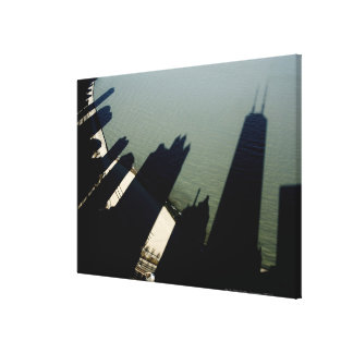 Shadows of Hancock Tower and apartment buildings Canvas Print