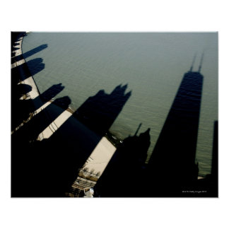 Shadows of Hancock Tower and apartment buildings Poster