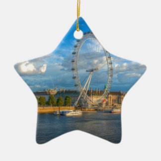 Shadows of the London Eye Christmas Ornament