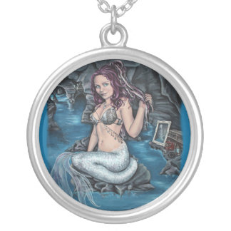 shadows of the world steampunk mermaid necklace