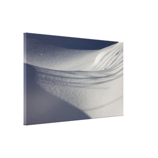 Shadows on untouched snow CC0099 Gallery Wrapped Canvas
