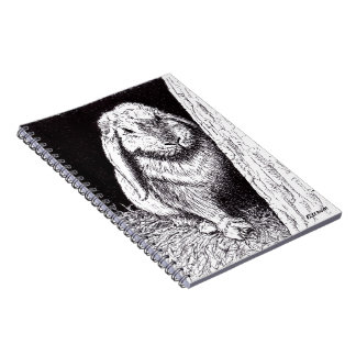 shadowy rabbit animal drawing notebook