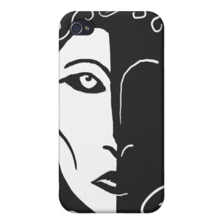 Shadowy Woman Black and White iPhone 4 Case