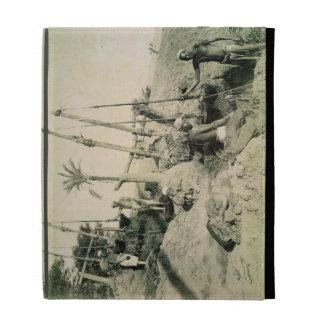Shadufs in Upper Egypt (sepia photo) iPad Folio Cover