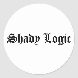 Shady Logic Sticker 2