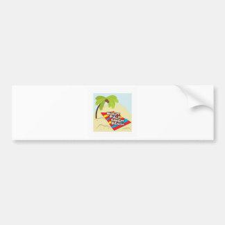 Shady Palm Beach Bumper Sticker