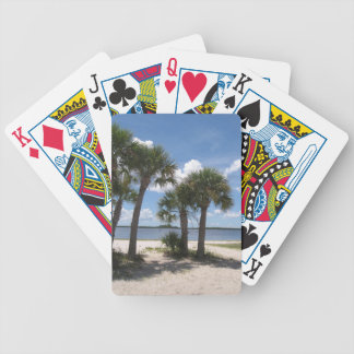 Shady Palms Bicycle Playing Cards