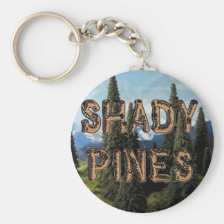 Shady Pines Basic Round Button Key Ring