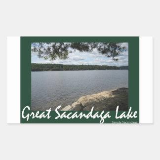 Shady Serenity Rectangular Sticker