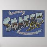 Shafer Lake - Large Letter Scenes Poster