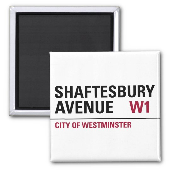 Shaftesbury Avenue Sign Magnet