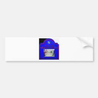 Shaftesbury Blue Red Bumper Stickers
