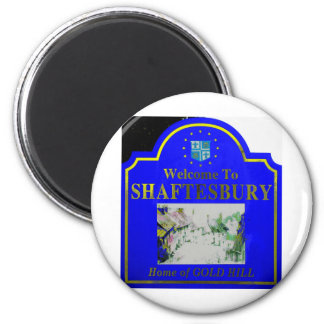 Shaftesbury Blue Yellow Refrigerator Magnet