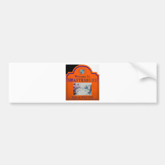 Shaftesbury Orange Blue Bumper Stickers