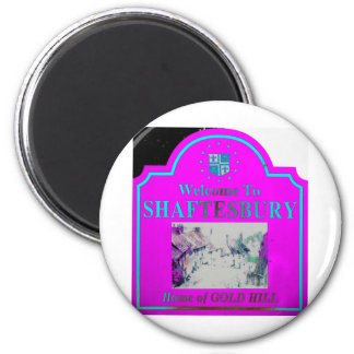 Shaftesbury Pink Torquise Refrigerator Magnets