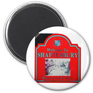 Shaftesbury Red Torquise Fridge Magnet