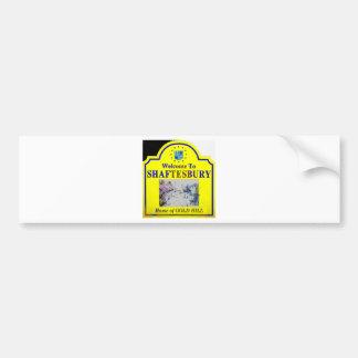 Shaftesbury Yellow Blue Bumper Stickers