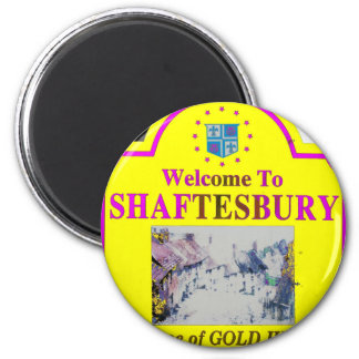 Shaftesbury Yellow Pink Magnet