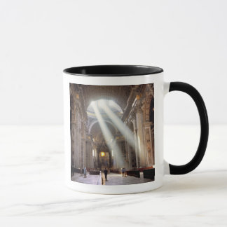 Shafts of sunlight pour through the windows mug