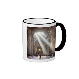 Shafts of sunlight pour through the windows coffee mug