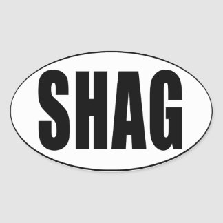 Shag Euro Country Oval Sticker