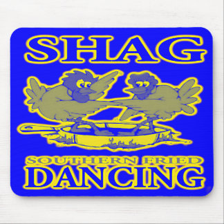 Shag Mouse Pad Southern Fried Dancing Blue Gold