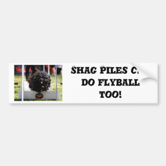 Shag Piles can do Flyball too Car Bumper Sticker