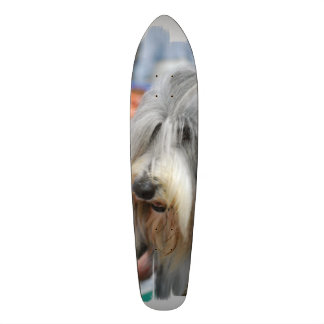 Shaggy Bearded Collie Skate Board Decks