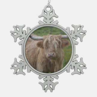 Shaggy Blonde Highland Cow Ornaments