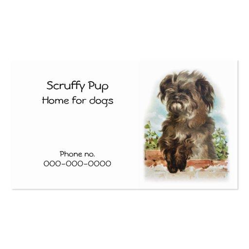 Shaggy dog business card