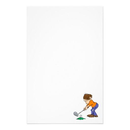 Shaggy Golfer Stationery Paper
