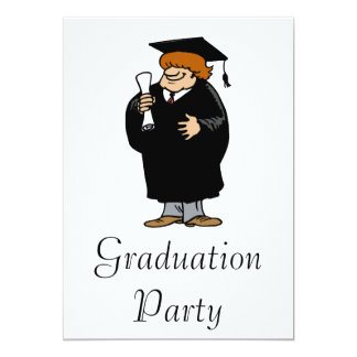 Shaggy Grad 13 Cm X 18 Cm Invitation Card