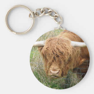 Shaggy Highland Cow Key Ring