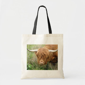 Shaggy Highland Cow Tote Bag