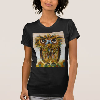 Shaggy owl big eyed wildlife tshirt